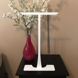 Other - Tall White Necklace Stand- NWOT